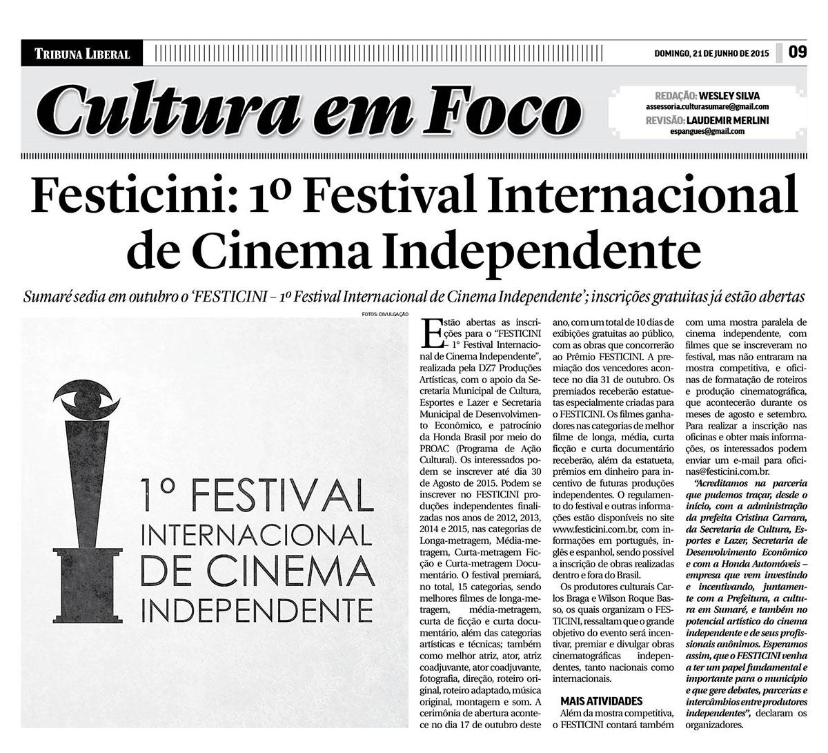 Festicini: 1º Festival Internacional de Cinema Independente