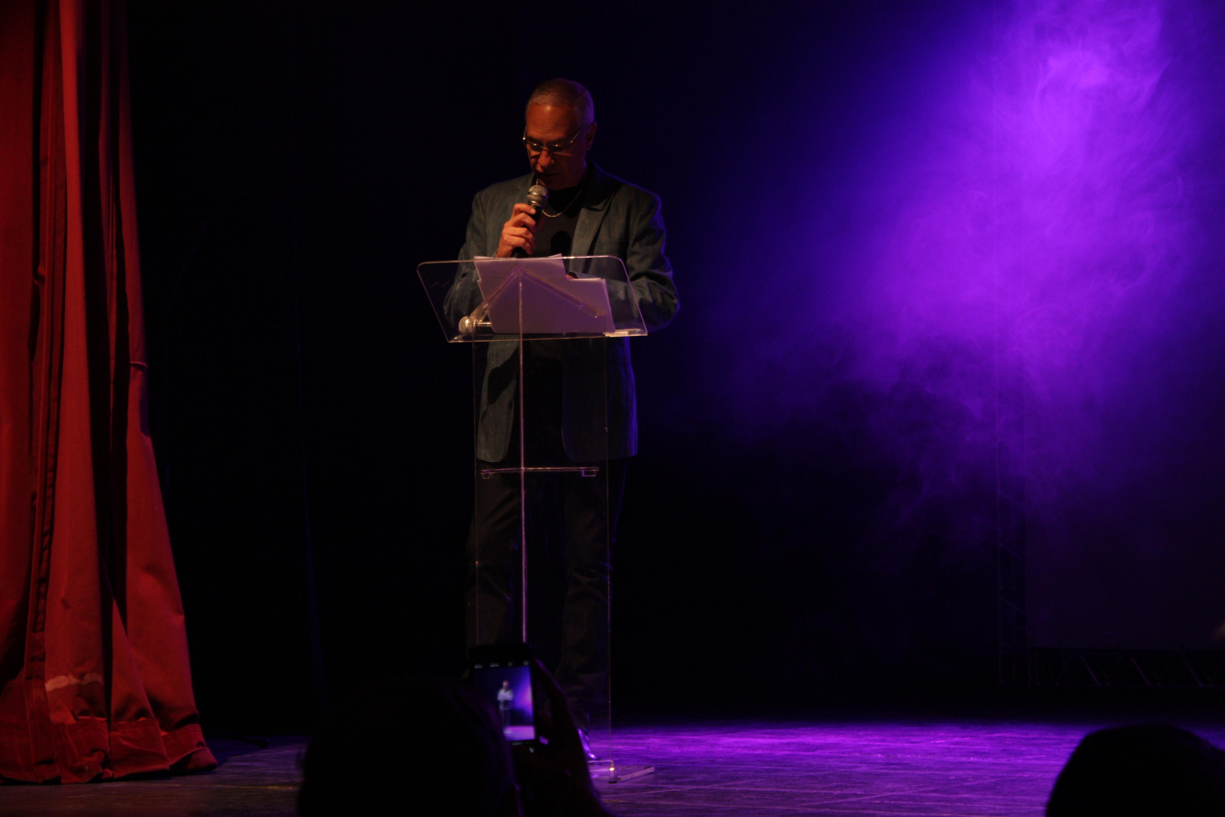 Carlos Braga fala na abertura do Festival