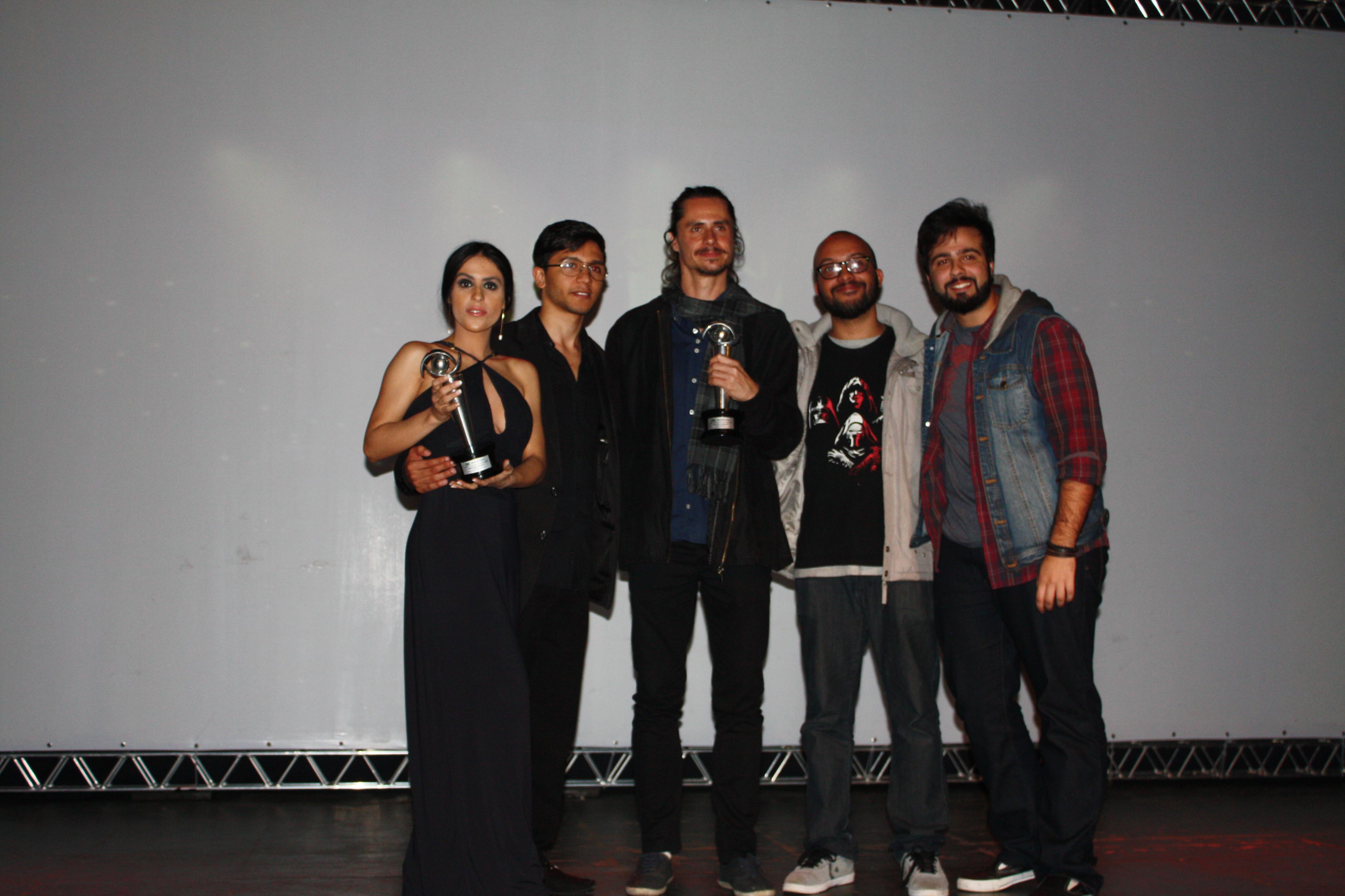 Ganhadores do  FESTICINI Melhor Média Metragem e Melhor Ator Coadjuvante para Marcus Veríssimo